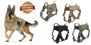 Dog Tactical Harness - Military K9, Chest No Pull Vest, Small Medium Large XL