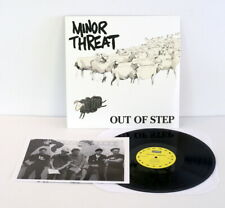 MINOR THREAT out of step Lp Vinyl Record with lyrics insert , dischord , fugazi