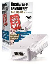 Devolo dLAN 1200+ WiFi Powerline 9385 AC pasar thro Add-on Único Adaptador 2 puertos