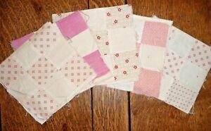 Antique Vintage Lot of 20 Nine Patch Quilt Blocks  c.1880-1920's-Crisp