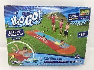 Bestway H2O GO Double Aqua Ramp Water Slide 18' Long Summer Cool Fun New!