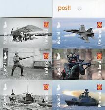 Finland 2018 MNH Defence Forces 100 Yrs 6v S/A Booklet Ships Aviation Stamps