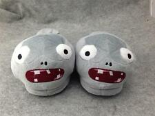 """Plants and Zombies Cosplay Adult Soft Plush Rave Shoes Slippers 11"""" Zombies"""