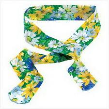 "Floral Body-Cooling Neck Wrap  2 1/8"" x 42"" long Cotton"