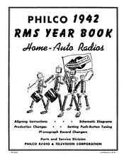 1942 Philco RMS Yearbook *  Home - Auto Radios *  CDROM * PDF