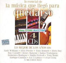 Lo Esencial Andy Williams,Elvis Presley,Tony bennet,Doris Day,Ray Conniff,4CD