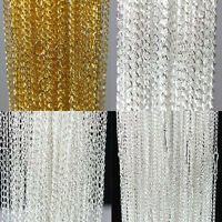 """100Pcs Gold Silver Plated Metal Chain Necklace Jewelry Finding DIY Making 18.9"""""""