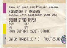 Hibernian Football Scottish Fixture Tickets & Stubs