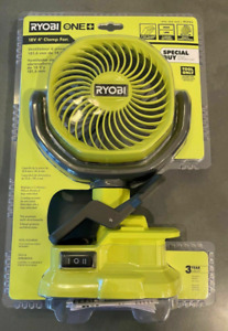 RYOBI ONE+ 18V Cordless 4 in. Clamp Fan (Tool Only) Sealed New IN HAND
