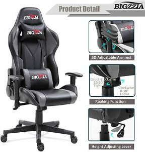 Office Chairs Racing Chair Sport Swivel PU Leather Mesh Gaming Desk Executive
