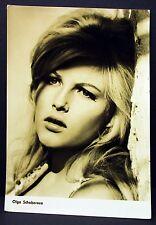 Olga Schoberova - AK - Foto Autogramm-Karte - Photo Postcard ( G-4298
