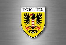 sticker adesivi adesivo stemma etichetta bandiera auto svizzera neuchatel