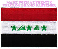 IRAQ FLAG PATCH IRAQI EMBROIDERED ARAB EMBROIDERED WAR w/ VELCRO® Brand Fastener