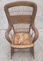 Antique Larkin Wicker Rocking Chair