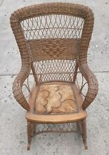 Antique Larkin Wicker Rocking Chair