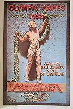 ETATS UNIS JEUX OLYMPIQUES de LOS ANGELES CALIFORNIE 1932 REPRODUTION  AFFICHE