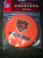 1 - 4 Pack Vinyl Drink Coasters - Chicago Bears