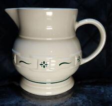 Longaberger Pottery 2 Qt. Pitcher, Heritage Green