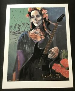 SIGNED STANLEY MOUSE- DIA DE MUERTOS GICLEE FINE ART PRINT 17 x 22 TEST PRINT