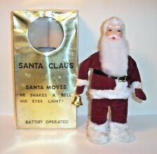 MINT 1950's SANTA CLAUS BELLRINGER BATTERY OPERATED TIN CHRISTMAS TOY MIB