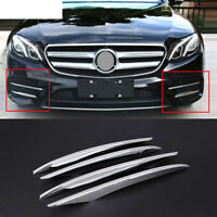 4pc Car Front Fog Lamp Eyebrow Cover Trim For Mercedes Benz E Class 16-18