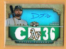 2013 Triple Threads Derek Norris Autograph Jersey /50 Oakland A's