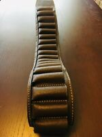 Leather Cartridge Belt in Brown for 20 Cartridges 12 Bore- Great value