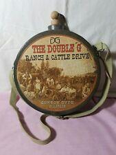 "DG The Double G Ranch & Cattle Drive Cowboy Dude Ranch 9"" Dia X 2 3/4"" Wide"