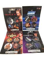 16 WW WRESTLING Badges - Undertaker, BATISTA, Triple H, SMACKDOWN - NEW