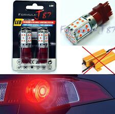 Canbus Error Free LED Light 3156 Red Two Bulbs Front Turn Signal Replace Lamp