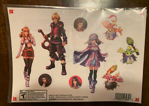 NEW My Nintendo Rewards Xenoblade Chronicles: 3 Sheets of Stickers Definitive Ed