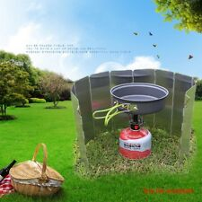10 Plates Foldable Cooker BBQ Gas Stove Wind Shield Screen Picnic Outdoor New