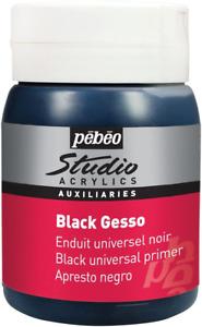 PEBEO Black Gesso Studio 500 ml, APGSB5, 524135