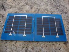 "Mini Solar Panels 12v 1w series Lot of Two Panels  Pmax 6.7v each 5""x5""x0.19"""