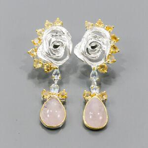 Jewelry Fine Art earrings Morganite Earrings Silver 925 Sterling   /E56360