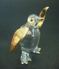 Verre agitant pingouin en verre animal Golden Flippers Bec & pieds verrerie Ornement