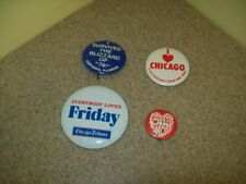 Vintage CHICAGO Various/Variety Pinback Buttons (Lot of 4)