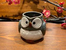 Japanese Lucky Owl Mug Grey Made in Japan