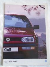 VW Golf range brochure 1997 pub May 1995