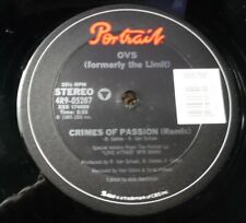 "OVS - Crimes Of Passion - Portrait 4R9-05287 yr 1985 12"" VG++"