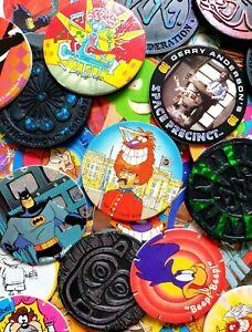 90's Pogs Tazos & slammers bundle - 50x mix & 2x slammers - Vintage Retro Gaming