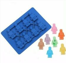 Silicon Chocolate Mold Building Men Robot Figures Mould Ice Cube Wax Melt UK
