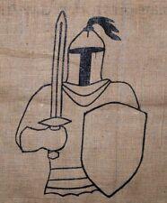 Medieval Knight in armor Archery target cover 40x30 bow burlap Renaissance fair