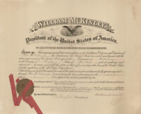 WILLIAM McKINLEY - CIVIL APPOINTMENT SIGNED 01/31/1899 WITH CO-SIGNERS