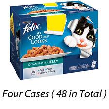 Felix aussi bien que ça semble Ocean fêtes en gelée 48 Sachets Nourriture Pour Chats 224987