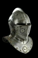 18GA SCA LARP Medieval Knight Tournament Close Armor Helmet Replica Costume Gift