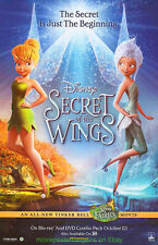 SECRET OF THE WINGS TINKER BELL MOVIE POSTER 26x40  DISNEY 2012 ANIMATION