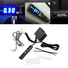 Universal Car Turbo Timer For NA & Turbo Black Pen Control Blue LED Unit Durable