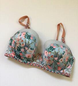 Victoria's Secret Sz 32DDD  Dream Lined Demi Floral Lace Bra