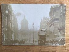 Vintage Postcard, Liverpool, Castle Street, Town Hall, Tram, 1904, Real Photo